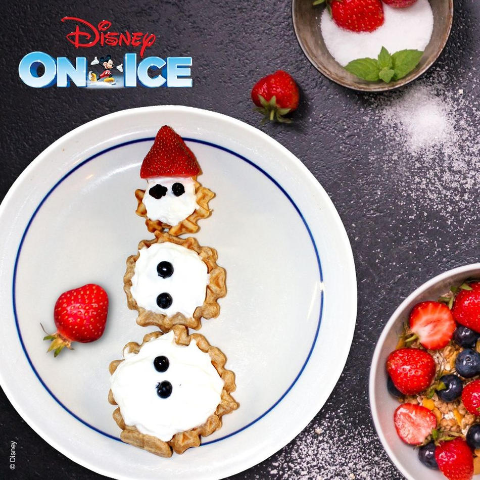 Recipe | Disney On Ice How To Make Olafaffles