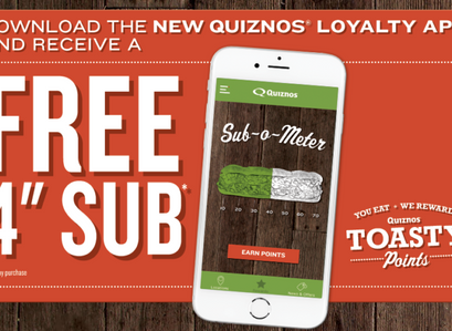 Quiznos | Free Small Sub With Any Purchase