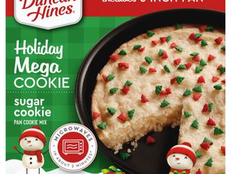 Duncan Hines Seasonal Winter Mega Cookie Sugar Pan Cookie Mix