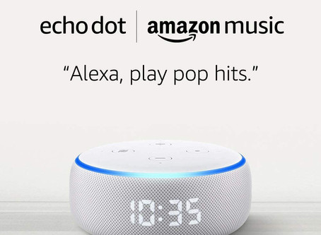 Amazon | Echo Dot with clock + Two Months of Amazon Music Unlimited