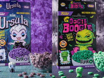 NEW! FunkO's Cereal W/ Pocket Pop Figure (Ursula or Oogie Boogie)