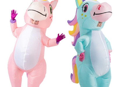 Spooktacular Creations Inflatable Unicorn, Adult Size Costume