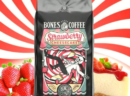 Bones Coffee Company Strawberry Cheesecake Coffee