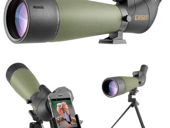 Amazon | Gosky Spotting Scope with Tripod, Carrying Bag and Smartphone Adapter