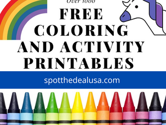 Over 1000 Free Coloring Pages and Activities Including Disney, Star Wars, Pixar and More!