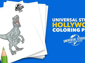 Universal Studios Hollywood Is Offering Free Jurassic Park - Jurassic World Coloring Pages