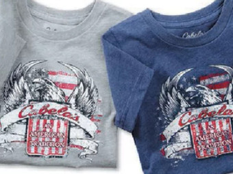 Bass Pro Shops and Cabela's   $5 American Tradition Short-Sleeve Tee's