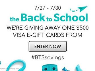 Back To School Savings Giveaway #BTSsavings