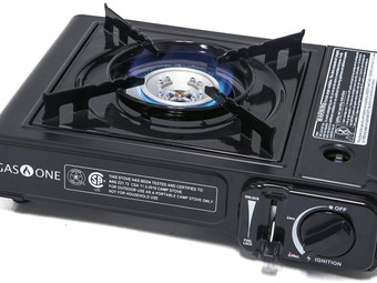 Amazon   Portable Camping Butane Gas Stove Automatic Ignition with Carrying Case