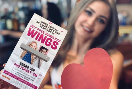 10 Free Hooters Wings w/ Purchase & Shred Ex's Photo