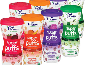 Amazon  | Plum Organics Super Puffs Variety Pack of 8