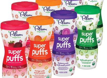 Amazon    Plum Organics Super Puffs Variety Pack of 8