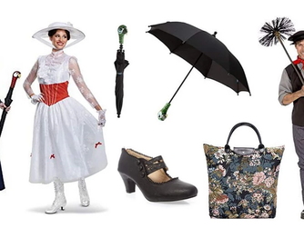 Disney Inspired Mary Poppins Cosplay Clothing and Accessories