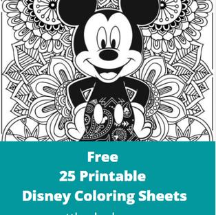 Free 25 Printable Disney Coloring Sheets