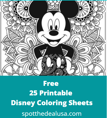 Free 25 Printable Disney Coloring Sheets