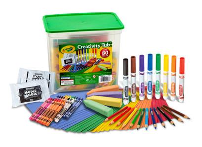 Crayola Creativity Tub Art Set, 80 Pieces