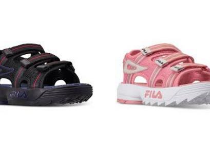 Clearance! Fila Big Boys & Big Girls Disruptor Athletic Sandals
