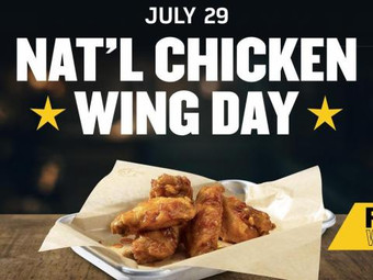 National Chicken Wing Day Deals July 29, 2020