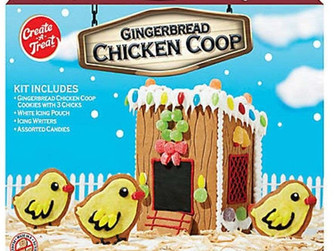 You Can Build A Gingerbread Chicken Coop Kit With Chick Cookies For The Holidays