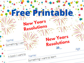 New Years Resolutions For Kids + Free Printable