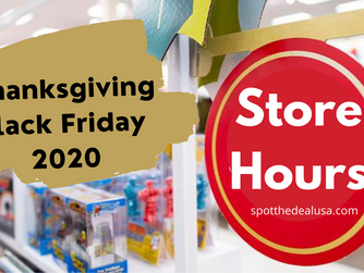Thanksgiving and Black Friday Store Hours 2020