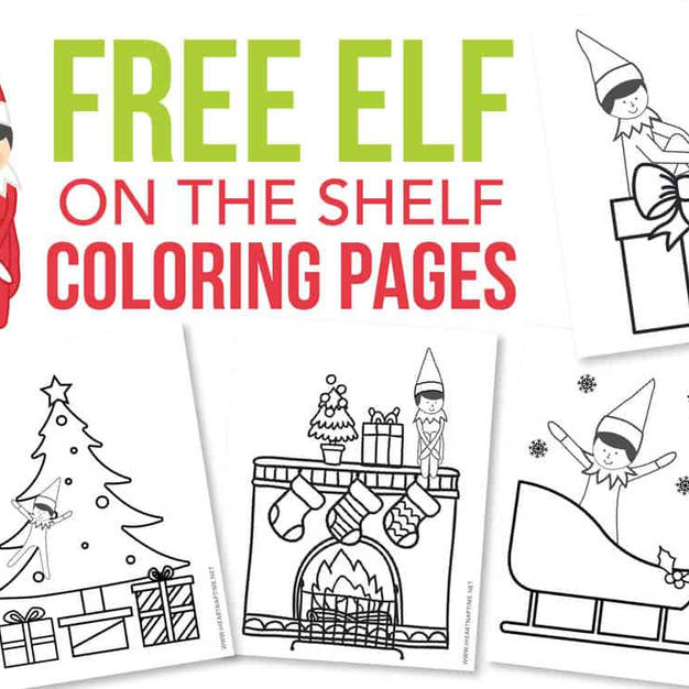 Free Coloring Pages | Elf On The Shelf