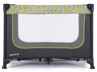 Amazon  |  Dream On Me Zodiak Portable Playard, Grey/Green