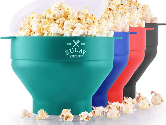Popcorn Popper Microwave Collapsible Bowl (BPA Free Silicone)