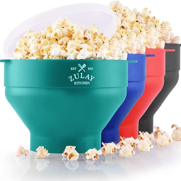 Microwave Popcorn Popper Bowls  (BPA Free, Silicone)