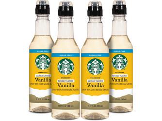 Amazon   Starbucks Naturally Flavored Sugar Free Vanilla Coffee Syrup 4PK