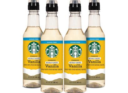 Amazon | Starbucks Naturally Flavored Sugar Free Vanilla Coffee Syrup 4PK