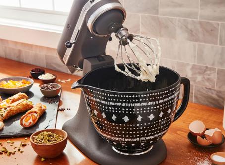 KitchenAid 5 Qt. Patterned Titanium-Reinforced Ceramic Bowl Stand Mixer Attachment