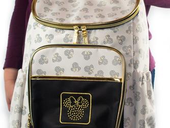 Disney Minnie Mouse Gold Metallic Backpack (Diaper Bag)