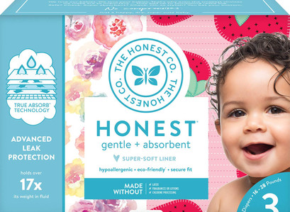 The Honest Company Club Box Diapers Rose Blossom & Strawberries Size 3 (68 Count)