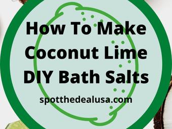 How To Make Coconut Lime DIY Bath Salts
