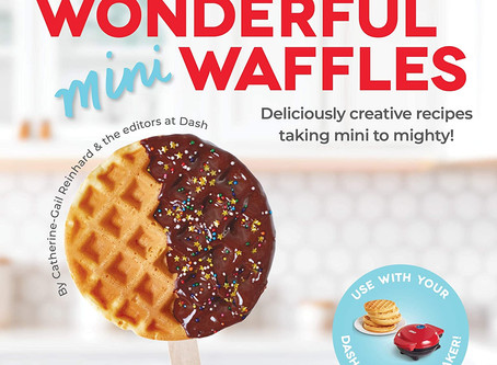 DASH Wonderful Mini Waffles Recipe Book with Gluten, Vegan, Paleo, Dairy + Nut Free Options