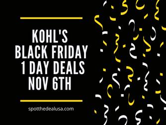 Kohl's Black Friday 1-Day Sale 11/6