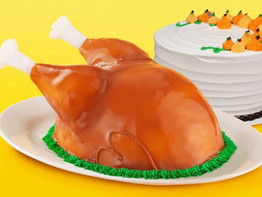 Baskin-Robbins Is Selling a Realistic TURKEY Ice Cream Cake  for Thanksgiving
