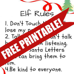 Free Printable | Elf On The Shelf Rules