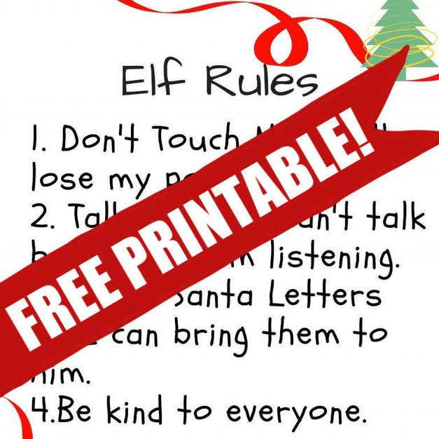 Free Printable | Elf On The Shelf Rules