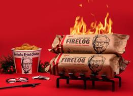 KFC Herbs & Spices Chicken-Scented Holiday Firelog At Walmart