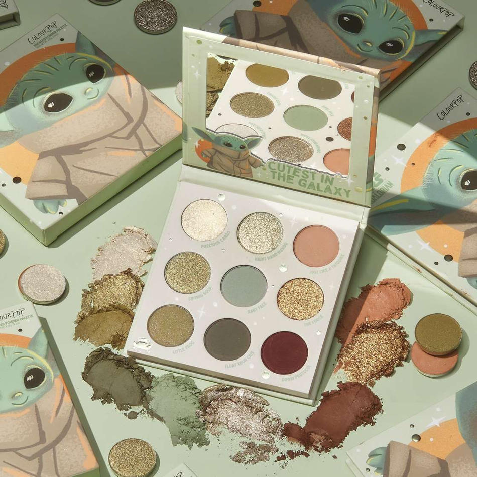 Colourpop Baby Yoda Eyeshadow Palette