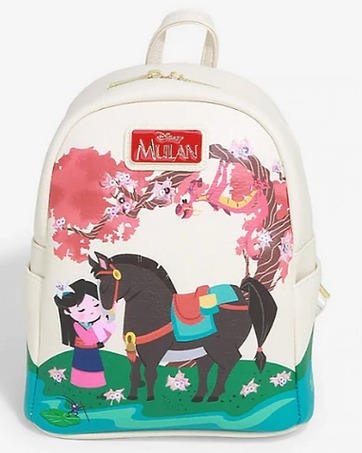 Disney Mulan Cherry Blossom Loungefly Mini Backpack