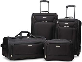 Amazon | American Tourister Fieldbrook XLT Softside Upright Luggage, 4 Pc Set