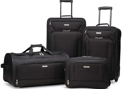 Amazon   American Tourister Fieldbrook XLT Softside Upright Luggage, 4 Pc Set