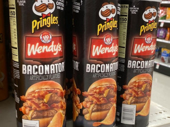 Target   Wendy's Baconator Pringles Now Available + Includes FREE Wendy's Sandwich Coupon
