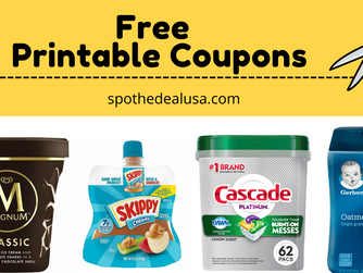 NEW! Free Printable Coupons