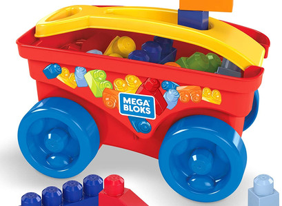 Amazon | Mega Bloks Pull 'n Play Wagon Preschool Building Set