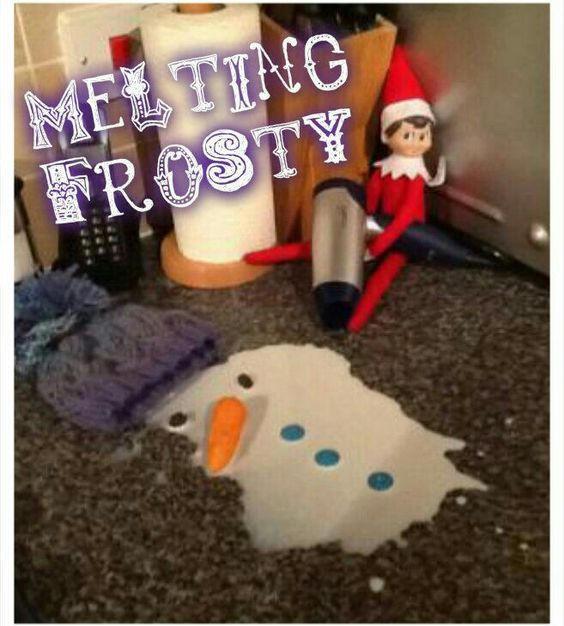 Melting Frosty | Elf On The Shelf