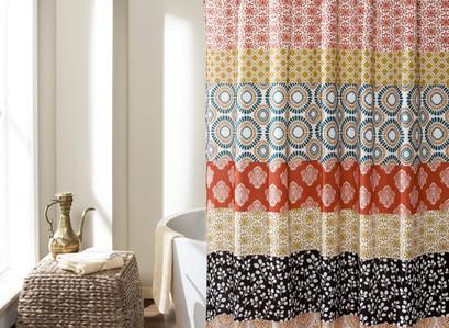 Walmart | Bohemian Stripe Shower Curtain  72″X72″